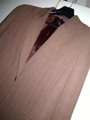 2 sur 12 Veste Homme JODHPUR Taille 48 Marron motifs prince de galles tissu  fluide Men c77ae6258d6b