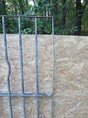 Antique Victorian Iron Gate Window Garden Fence Architectural Salvage Door WWW 7