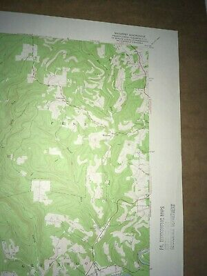 Mahaffey Pa. Clearfield Co USGS Topographical Geological Survey Quadrangle Map 3