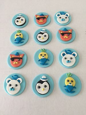 OCTONAUTS CUPCAKE TOPPER EDIBLE BIRTHDAY CAKE TOPPERS X 12 5