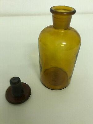alte Apothekerflasche braun mit Glasstöpsel 2