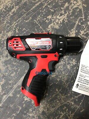 "NEW Open Box Milwaukee 2407-20 M12 12V Li-Ion 3/8"" Drill Driver Bare Tool 4"