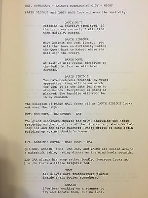 Star Wars Episode I The Phantom Menace Lucasfilm Rare Screenplay Script 29 99 Picclick