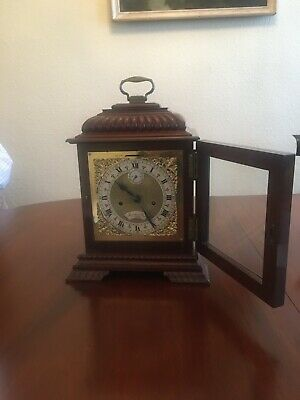 Mahogany bracket clock, fine quality Englishdouble fusée movement 4