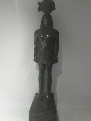 RARE ANTIQUE ANCIENT EGYPTIAN Scarab Protection Horus Falcon God Sky Stone Bc 3