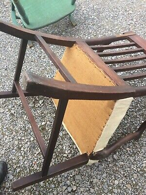 Hepplewhite chair repaired /modified in solid condition requires new upholstery  4
