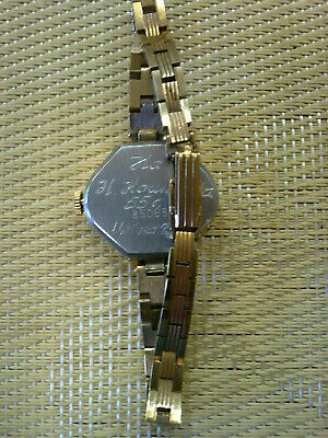 gold plated Vintage Old  women USSR Wrist Watch  LUCH 2