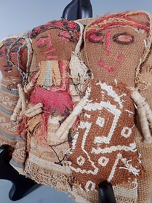 Peru Peruvian Central Coast Chancay Fabric Cotton Burial Dolls  #2 7