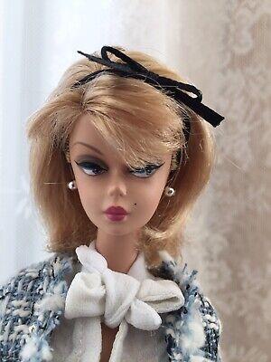 Perlenohrringe schwarz Vintage// Silkstone *keine grünen Ohren* Barbie Schmuck