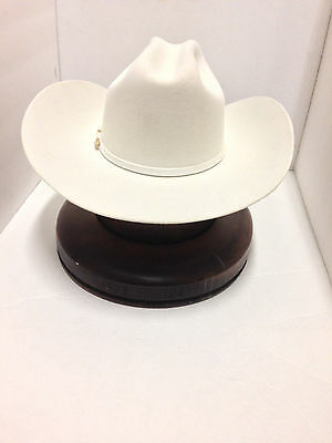 c4807b0b86694e ... Stetson Cowboy Hat 6X Beaver Fur White HighPoint With Free Hat Brush+NO  TAX SELL