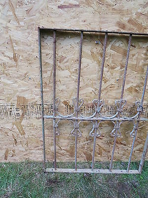 Antique Victorian Iron Gate Window Garden Fence Architectural Salvage Guard F 3