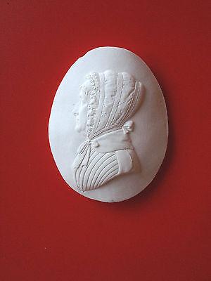 2 Grand Tour Cameo intaglio Gem Medallion plaster seal Victorian Ladies Portrait 3