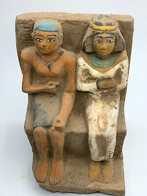 ANCIENT EGYPTIAN EGYPT ANTIQUES STATUE Akhenaten and Nefertiti 1345–1337 BCE -R 4