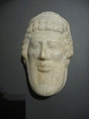 A Roman / Greek   Marble Head Of Hermes ? Propylaios  ??  Circa 1St Century B.c. 7