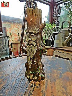 Tree Man of the Forest GREENMAN KING INCENSE BURNER Mystic. Ash Catcher