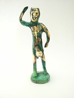 Ancient Greek Bronze Museum Mythology Statue Replica Satyrus Satyr Pan Dionysus 3