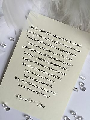 Money Wedding Gift Poem Gift Ideas