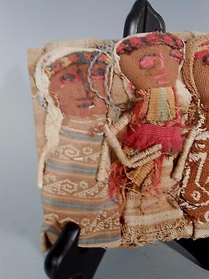 Peru Peruvian Central Coast Chancay Fabric Cotton Burial Dolls  #2 4