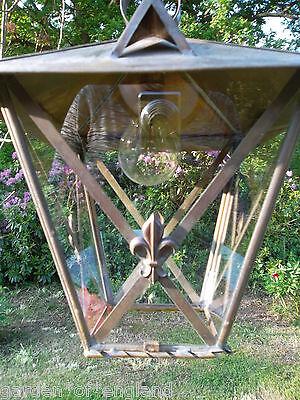 A very pretty unusual Vintage French brass lantern (T157) 8