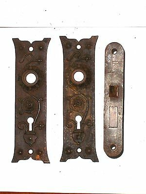 Russell & Erwin Mortise Lock With Door Knob Backplates 2