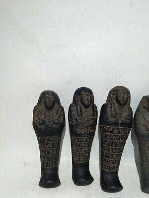 RARE ANTIQUE ANCIENT EGYPTIAN 5 Ushabti Work as Sevant Minions 1630 Bc 3