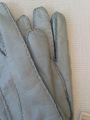 Guanti Donna in pelle col. carta da zucchero tg 6 Gloves Originali Lusso 5