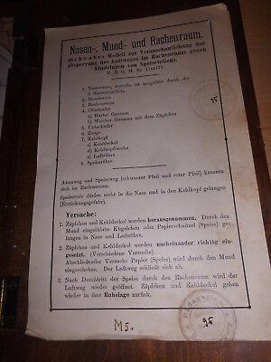 Nase-, Mund-und Rachenraum, Hermann Eppler, Rudolstadt D.R.G.M., gebr., selten!