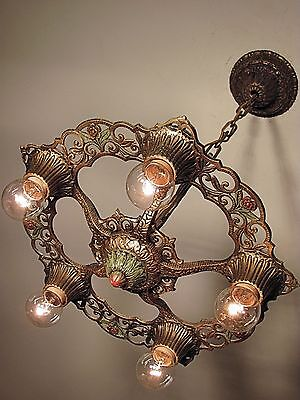 CLASSIC! Antique 1930s Virden Winthrop Light Fixture - RESTORED! PAIR Available 2