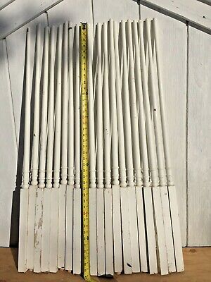 """10  Antique Vintage 34"""" Wood Wooden Staircase Stair Rail Spindle Baluster 3"""