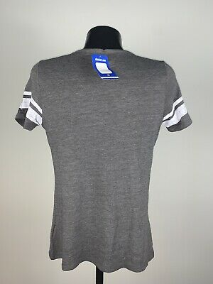 Women's NBA Basketball Majestic Fan Fashion Toronto Raptors Grey Shirt NWT Large 6