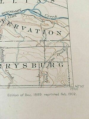 US Geological Survey Topography Map,1902 Quadrangle Silver Creek  New York 3
