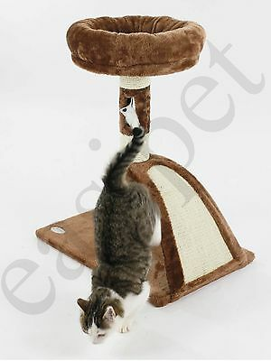 Cat Tree Scratcher Scratch Post Kitten Play Toy Scratching Activity Centre 8 • EUR 19,63