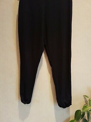 Girls Black/Silver Harem Style Loose Fit Leggings Trousers Age 8-9 Years 4
