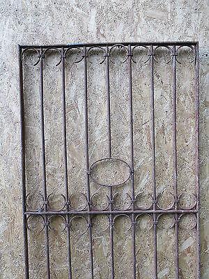 Antique Victorian Iron Gate Window Garden Fence Architectural Salvage Door GGG 4