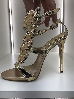gladiator 13 cm Sexy Gold Gelb peeptoes fetish sky sandals high heels 43 42 us11 8