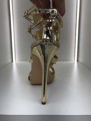 gladiator 13 cm Sexy Gold Gelb peeptoes fetish sky sandals high heels 43 42 us11 10