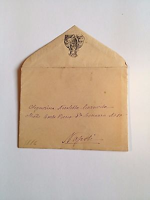1886 --Meia cara Nicoletta (4 Page signed letter w/Envelope, Napoli, Cento Baci 5