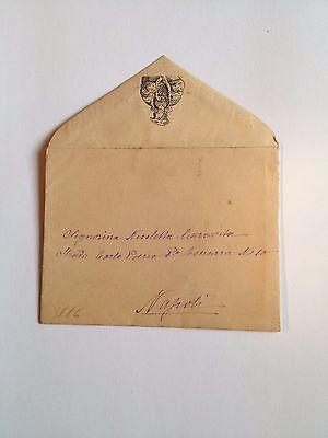 1886 --Meia cara Nicoletta (4 Page signed letter w/Envelope, Napoli, Cento Baci 5
