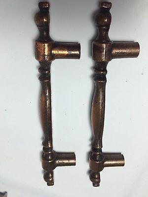 Set (2) Retro Vintage Ajax 9568 Copper Finish Drawer Cabinet Door Handles Pulls 2