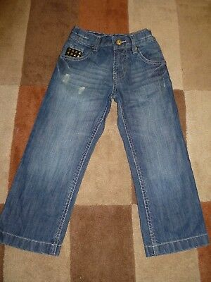 Kid's (5 yrs) Distressed Look Jeans with Studs by Matalan (Very Good Condition) 2