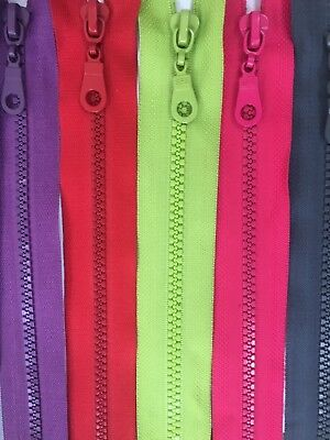 Closed End Chunky /HEAVY DUTY Plastic Teeth Zips - 14 to 80 cm SAME DAY DISPATCH 4