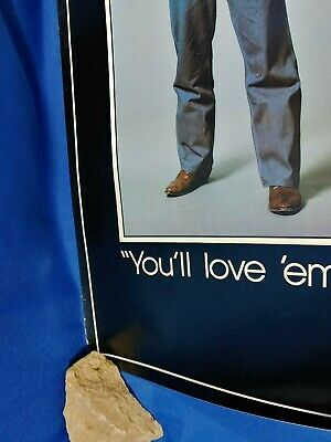 Liberty Overalls VTG Advertising Poster Sign George Goober Lindsey Hee-Haw RARE