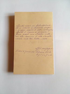 1886 --Meia cara Nicoletta (4 Page signed letter w/Envelope, Napoli, Cento Baci 4