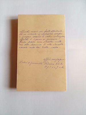 1886 --Meia cara Nicoletta (4 Page signed letter w/Envelope, Napoli, Cento Baci 4