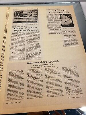 VINTAGE SCRAP BOOK Know Your Antiques/Refinishing /Collections/Newspaper clips 4 10