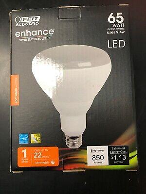 0241 Feit LED 65W Equivalent 850 Lumens Dimmable 2700K Bulb BR40DM//927CA 4 Pack