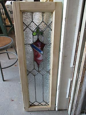 ~ ANTIQUE AMERICAN STAINED GLASS WINDOW ~ 12 x 37.5 ~ ARCHITECTURAL SALVAGE 9