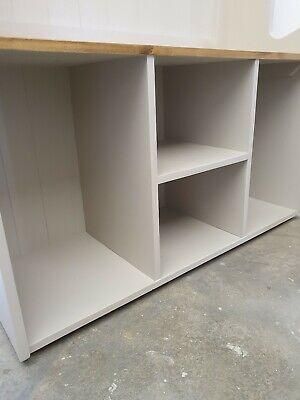 Handmade solid Pine 3ft Hall Stand Shoe Storage Coat Hooks Farrow and Ball 3