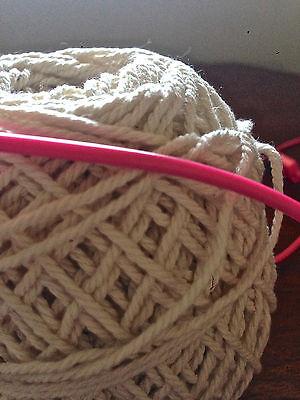 1.5mm-2mm Natural Cream Cotton Rope - macrame/pot hanger/loom/weave/boho/wallart 7