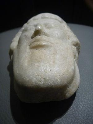 A Roman / Greek   Marble Head Of Hermes ? Propylaios  ??  Circa 1St Century B.c. 10